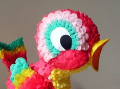 Every good party needs a pinata - toddlers love nothing better than whacking things with sticks! Rio Birthday Parties, Birthday Party Desserts, Diy Birthday, Diy And Crafts, Crafts For Kids, Paper Crafts, Diy Halloween Gifts, How To Make Pinata, Mexican Party