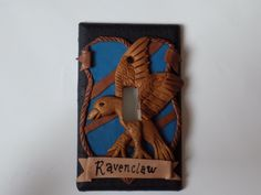 Ravenclaws show your house pride with this unique light switch cover!
