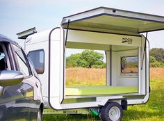 Tiny Mogo Freedom trailer transforms into a camper for two | Inhabitat - Sustainable Design Innovation, Eco Architecture, Green Building