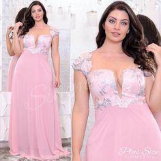 Moda Plus Size festa Plus Size Formal Dresses, Evening Dresses Plus Size, Lace Evening Dresses, Casual Dresses For Women, Super Cute Dresses, Fabulous Dresses, Fantasy Gowns, Party Frocks, Dresses To Wear To A Wedding