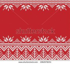 Winter Holiday Fair Isle Seamless Knitted Pattern with a Christmas Trees Fair Isle Chart, Knitting Charts, Winter Holidays, Craft Fairs, Christmas Trees, Projects To Try, Pattern, Crafts, Punto De Cruz