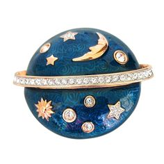 Swarovski The Moon & The Stars Brooch - Deadstock | From a unique collection of vintage brooches at http://www.1stdibs.com/jewelry/brooches/brooches/