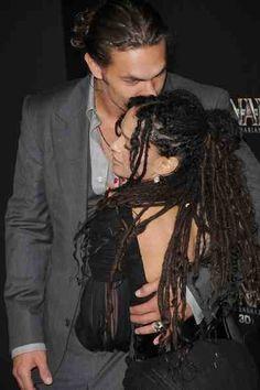 Jason Momoa and Lisa Bonet. Together forever I hope.