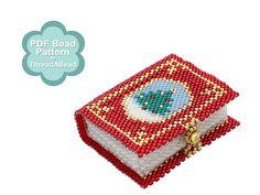 Bead Pattern: Santa's Secret Book Ornamen