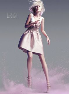 """A Study in Pastel"": Olivka by Troyt Coburn for Marie Claire Australia  What's not to love? Delicate pink"