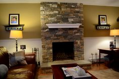 Air Stone Around A Fireplace   Home Design Ideas
