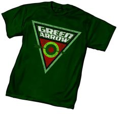 0f1c07893a0 Green Arrow Bullseye DC Comics Men s t-shirt. Green Arrow LogoGreen Lantern  ...