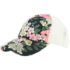 Billabong Women's Heritage Mashup Hat Multi Hats ($23) ❤ liked on Polyvore featuring accessories, hats, multi, snapback trucker hats, billabong hats, beach trucker hat, trucker hats and billabong snapback