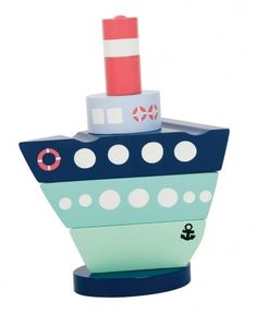 Stacking Boats | wooden toy | beautiful colors and smart design | we love smart toy design at groovygap.com | #woodentoys #colorfuldesign #stackingboattoy