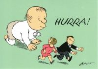 HURRA -Loriot -Postkarte zur Geburt
