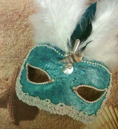 Lady Mermaid  / Venetian Vintage Mask by MaskedEnchantment on Etsy, $48.00