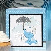 Elephant Baby Blue Small Centerpiece