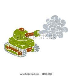 cartoon tank.Vector illustration