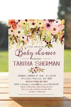 Fall baby shower invitations