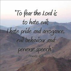 Image result for picture proverbs 8:13 pride