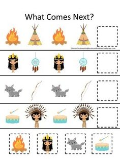 Preschool Projects, Preschool Themes, Classroom Crafts, Preschool Art, Native American Games, Native American Projects, Native American Patterns, Thanksgiving Games For Kids, Thanksgiving Projects