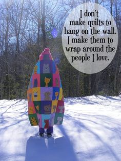 Actually, I couldn't, really, but I love, love, love it and I want to learn how! The embroidery I can do. The applique and quilting, I need to learn. Because I want to make quilts for my grandchildren.  :)