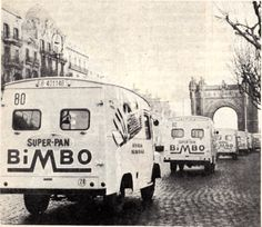 Camionetas de reparto de Bimbo, Barcelona años 60.