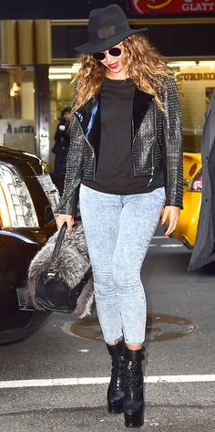 Beyonce looks amazing while out and about in New York City! Love the boots.