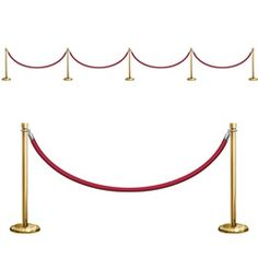 $5.40 Each package includes: Five (5) Stanchion Stands Four (4) Red Velvet-like Ropes Measure: Poles: (34½) inches Ropes: (5) feet (3) inches Material: Thin-Plastic sheet Cut out stanchion pictures and attach to walls using tape or thumbtacks NOTE: THESE ARE NOT FREE-STANDING Check out our Black-Tie Scene Setter if you want to transform your entire wall into a big production.