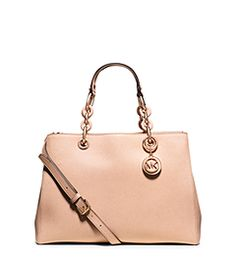 Cynthia Medium Saffiano Leather Satchel by Michael Kors Work Outfits,  Casual Outfits, Purses And 312f5160f8