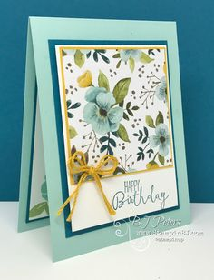 You have to check out the Special Celebrations Stamp set - it has what you want!  A greeting for the inside and outside!  And of course the Whole Lot of Lovely designer series paper is gorgeous!  #stampinbj.com