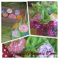 Mother's day cupcake bouquets.   Therapeutic Arts