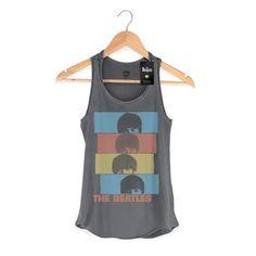 Regata Premium Feminina The Beatles Headshot #TheBeatles #bandUPStore #Beatles #Fab4