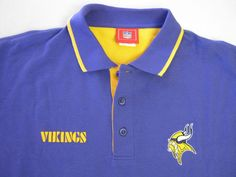 NFL Minnesota Vikings Shirt XL SS Short Sleeve Purple Polo NEW #NFL #MinnesotaVikings