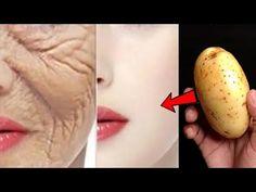 Yaşınızdan 10 yaş daha genç görünmenin Japon sırrı, yaşlanma karşıtı kırışıklık giderme tedavisi, ev - YouTube Face Skin, Face And Body, Potato Face Mask, Anti Aging, Beauty Skin, Health And Beauty, Whitening Face, Face Wrinkles, Wrinkle Remover