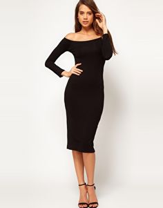 DEAL: $43.98 Off Shoulder Midi Dress #ConGLAMerate #Fashion #ASOS