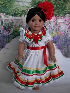 Cinco de Mayo Mexican Folklorico Dress for Josefina by WeeWhimzyWardrobe on Etsy, $35.00