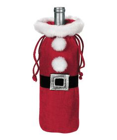 Take a look at this Santa Suit Bottle Bag by GANZ on #zulily today!