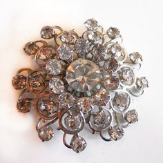 '50s Stacked Flower Brooch, $80, now featured on Fab.