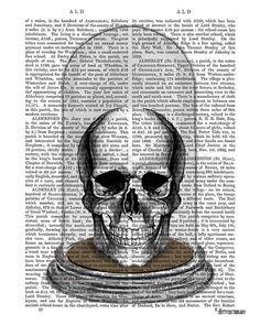 Skull In Victorian Bell Jar skull Illustration by DottyDictionary, $15.00