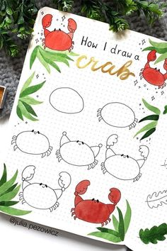 Best step by step ocean doodle tutorials and ideas for your bullet journal! Bullet Journal Writing, Bullet Journal Ideas Pages, Bullet Journal Inspiration, Bullet Journals, Pencil Art Drawings, Doodle Drawings, Easy Drawings, Easy Doodle Art, Doodle Art Journals