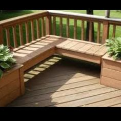 Garden Pots And Bench For Patio Deck Designs