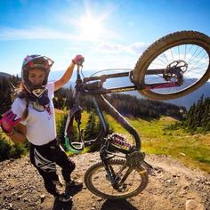 #Mtb #bike #girl #downhill #gravity #singletrack #dh #biking
