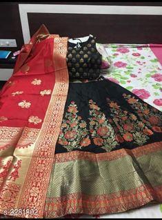 Lehengas Designer Banarasi Brocade Lehenga Fabric: Lehenga - Banarasi Brocade Blouse - Banarasi Brocade Dupatta - Banarasi Brocade Size: Lehenga (Waist Size) - Up To 40 in To 42 in ( Free Size ) Blouse (Bust Size)- Up To 36 in To 38 in ( Free Size ) Dupatta - 2.5 Mtr Flair - 3 Mtr Length: Lehenga - Up To  42 in Type: Lehenga - Semi Stitched Description: It Has 1 Piece Of Lehenga 1 Piece Of Padded Blouse & 1 Piece Of Dupatta   Work: Lehenga - Printed Blouse - Printed Dupatta - Printed Country of Origin: India Sizes Available: Un Stitched, Semi Stitched   Catalog Rating: ★4.4 (442)  Catalog Name: Free Mask Anshu Designer Banarasi Brocade Lehengas Vol 1 CatalogID_453510 C74-SC1005 Code: 1951-3281802-3093