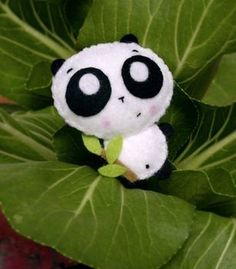 DIY Panda plushie! Cute, and the website provides cutouts to print out and use. Easy! :))