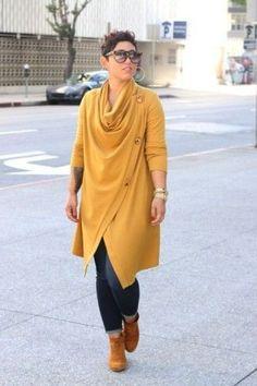 Diy cowl neck sweater + sew along mimi g style diy looks fas Curvy Fashion, Look Fashion, Diy Fashion, Plus Size Fashion, Fashion Outfits, Womens Fashion, Petite Fashion, Fashion Styles, Fashion Clothes