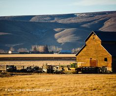 Barn and Farm Equipment, Weaver Road - Ellensburg, Washington by Steve G. Bisig, via Flickr