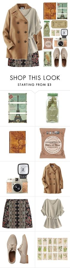 """""""Paris Traveler"""" by lover-of-pie ❤ liked on Polyvore featuring Uttermost, Patricia Nash, Uniqlo, Valentino and Gap"""