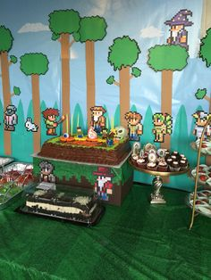 Diy Decorations MJ Ripa Terraria Bday Party For 9 Year Old