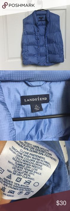 Lands' End Vest (Goose Down) Kids size 10-12 but can fit a woman's XS or S; great condition 🌼I do my best to assess and inform you of any damages/wear that I notice on the product I am selling. Please note that most items I sell are previously loved and will most likely show some kind of wear, except if it is indicated as new/never worn.🌼I follow Posh Rules 😀 thanks and happy poshing! Lands' End Jackets & Coats Vests