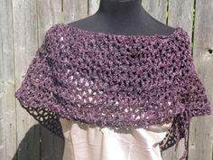 Plum Chenille caplet plum Infinity scarf plum by CrochetByMel, $38.99