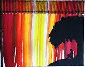 melted crayon art sun set - Google Search