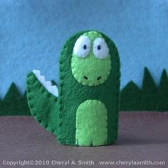 Felt Finger Puppets for Sale - Handmade in the USA Felt Puppets, Felt Finger Puppets, Hand Puppets, Kids Crafts, Felt Crafts, Puppets For Sale, Finger Puppet Patterns, Dinosaur Pattern, Dinosaur Crafts