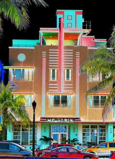 south beach miami florida travel package is part of Miami art deco - South Beach Miami Florida Travel Package artDeco Miami South Beach Miami, Miami Florida, South Florida, Art Deco Buildings, Colourful Buildings, Art Nouveau, Art Plage, Miami Art Deco, Belle Villa