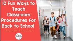 10 Creative and Fun Ways to Teach Classroom Procedures | The Butterfly Teacher Teaching Procedures, Classroom Procedures, Classroom Supplies, School Classroom, Classroom Management, Beginning Of School, First Day Of School, Back To School, Classroom Routines